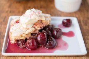 Dessert Recipes: Cherry Cobbler, Vanilla Custard & a Fruity-Chocolaty Chilled Dessert