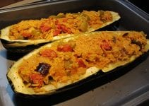 Speedy Cooking - Marrow & Red Bean Veggie Bake: Five Minute Vegetarian Marrow and Beany Bake Supper Dish