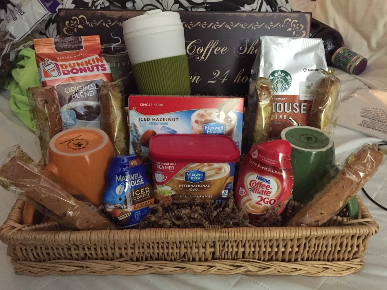 Coffee or tea lovers gift basket negle Gallery