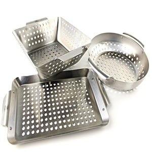 Yukon Glory 3-Piece Mini BBQ Grill Baskets Accessory Set Product Image