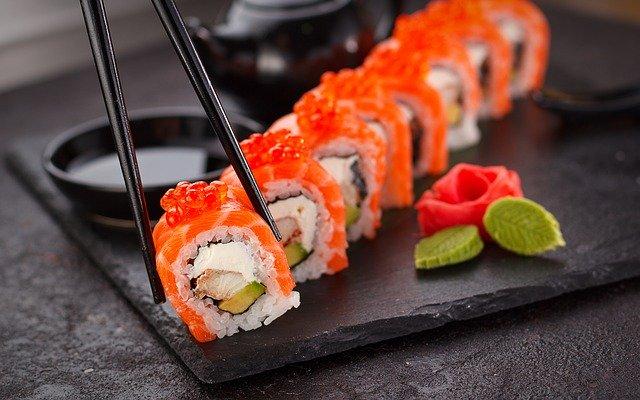 sushi, japanese, plate