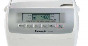 Panasonic SD-RD250 Bread Maker Interface