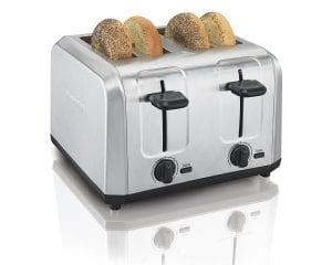 Hamilton Beach Brushed Stainless Steel 4-Slice Toaster 24910 Product Image