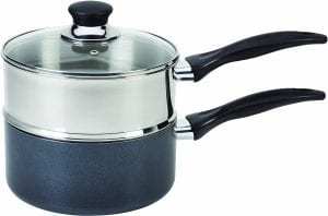 T-fal B13996 Specialty Stainless Steel Double Boiler with Phenolic Handle Cookware Product Image