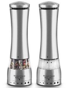 Electric Salt & Pepper Grinder Set By Beyond Flavor Product Image