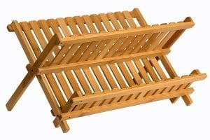 Sagler Bamboo Wooden Dish Rack Product Image