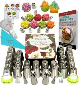 KS Artisan Russian Piping Tips 66 Pcs Cake Decorating Supplies Baking Supplies Set Product Image