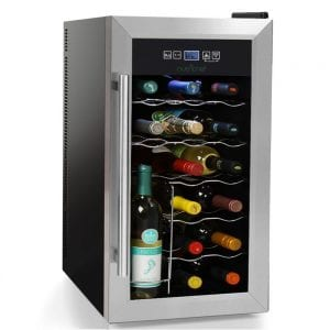 NutriChef 18 Bottle Thermoelectric Wine Cooler Chiller Product Image