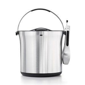 OXO SteeL Ice Bucket and Tongs Set Product Image