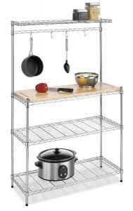 Whitmor Supreme Baker's Rack with Food Safe Removable Wood Cutting Board Product Image