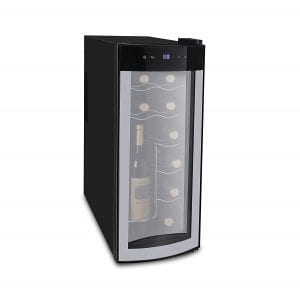 iGloo 12-Bottle Wine Cooler with Curved Glass Door Product Image