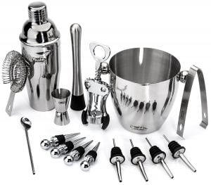 Buddy 16-Piece Wine and Cocktail Mixing Bar Set–Bartender Kit product image