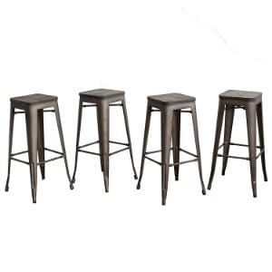 Buschman Counter Height Tolix-Style Metal Bar Stools product image