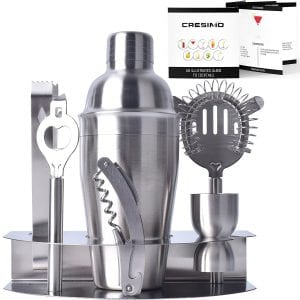 Cresimo Professional Stainless Steel Cocktail Bar Tool Set and Bartender Kit product image