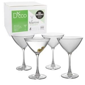 Deco Unbreakable Martini Glasses product image