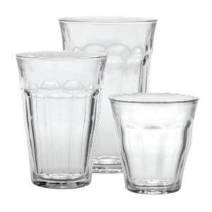 Duralex CC118 Made In France Picardie 18-Piece Clear Drinking Glasses Tumbler Set product image