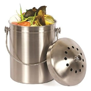 Estilo Stainless Steel Compost Pail, 1 Gallon Compost Bin product image