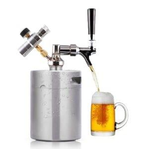 HaveGet 64 Ounce Mini Beer Keg Pressurized Growler product image