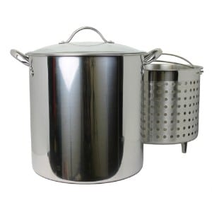 Kitchen Collection 30 Quart Stainless Steel Steamer Stock Pot 03007 product image
