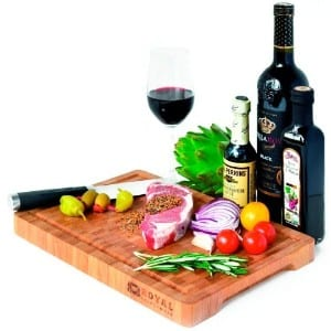 Royal Craft Wood Thick End Grain Bamboo Wood Cutting Board product image