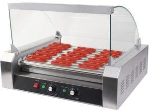 Safstar 11 Roller 30 Hot Dog Grill Machine Commercial Hotdog Cooker Maker Machine Product Image
