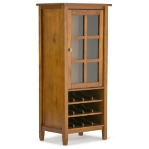 Simpli Home Warm Shaker Solid Wood High Storage Wine Rack Product Image