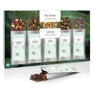 Tea Forté Single Steeps Lotus Loose Leaf Tea Sampler Product Image