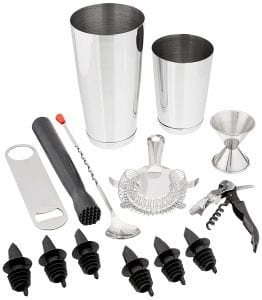 Tiger Chef 14 Piece Stainless Steel Bar Set Cocktail Making Set product image