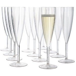 US Acrylic Plastic 5-ounce One Piece Champagne Flute Set product image