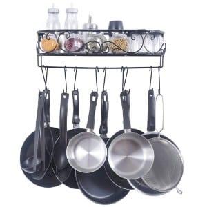ZESPROKA Kitchen Rack, Wall Mounted Pot and Spice Rack product image