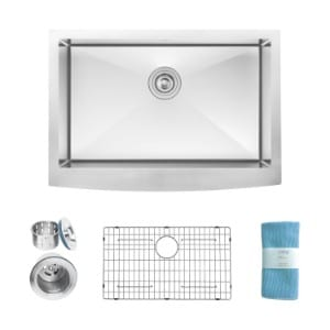Zuhne Prato Farmhouse Apron Front Deep Stainless Steel Luxury Kitchen Sink product image