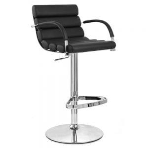 Zuri Furniture Black Ego Adjustable Height Swivel Bar Stool product image