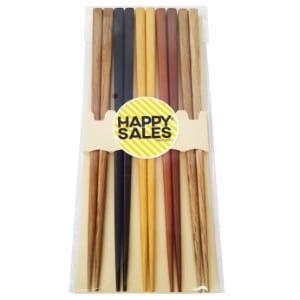 Happy Sales Hsch22s, 5 Pairs Multi Color Design Japanese Bamboo Chopsticks Gift Set Product Image