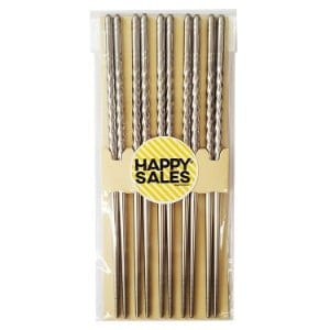 Happy Sales Hscss4, 10 Pc Chopstick Stainless Steel Chopsticks Product Image
