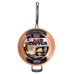 Bulbhead Red Copper 12 Inch Pan Product Image