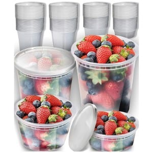 Prep Naturals Plastic Containers With Lids Set Product Image