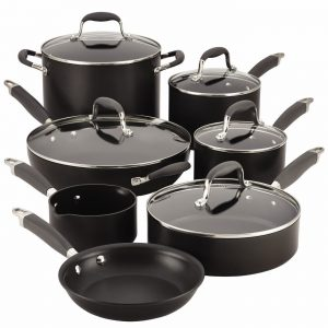 Anolon Advanced 12 Pc. Hard Anodized Nonstick Cookware Set Product Image