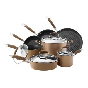 Anolon Advanced Bronze Hard Anodized Nonstick 11 Piece Cookware Set Product Image