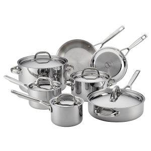 Anolon Tri Ply Clad Stainless Steel 12 Piece Cookware Set Product Image