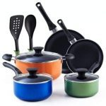 Cook N Home 02602 Stay Cool Handle, Multicolor 10 Piece Nonstick Cookware Set Product Image