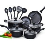 Cook N Home 15 Piece Nonstick Stay Cool Handle Cookware Set Product Image