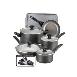 Farberware Pewter Nonstick Aluminum 15 Piece Cookware Set Product Image