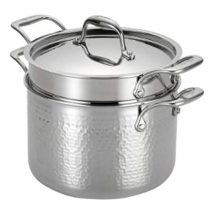 Lagostina Q5534864 Martellata Tri Ply Hammered Stainless Steel Pasta Pot Product Image