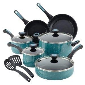 Paula Deen Riverbend Aluminum Nonstick Cookware Set, 12 Piece Product Image