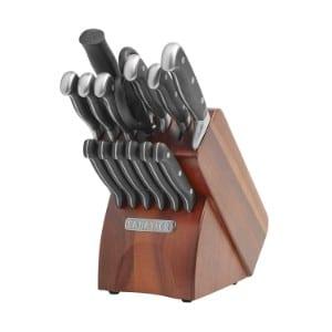 Sabatier 15 Piece Forged Triple Rivet Knife Block Set With Acacia Block Product Image