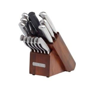 Sabatier 15 Piece Stainless Steel Hollow Handle Knife Block Set, Acacia Product Image
