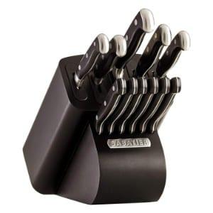 Sabatier Self Sharpening Edgekeeper Pro 12 Piece Forged Triple Rivet Knife Block Set Product Image