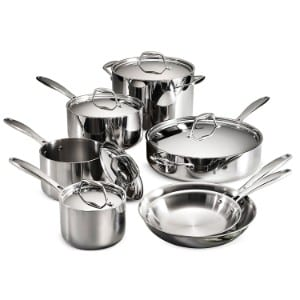 Tramontina 80116 249ds Gourmet Stainless Steel Induction Ready Tri Ply Clad 12 Piece Cookware Set Product Image