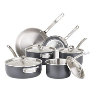 Viking 5 Ply Hard Stainless Cookware Set With Hard Anodized Exterior, 10 Piece Product Image