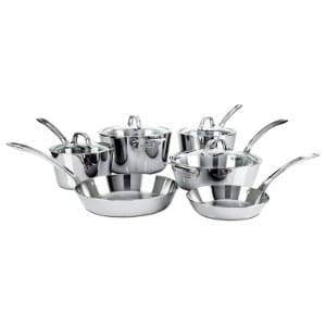 Viking Contemporary 3 Ply Stainless Steel Cookware Set, 10 Piece Product Image